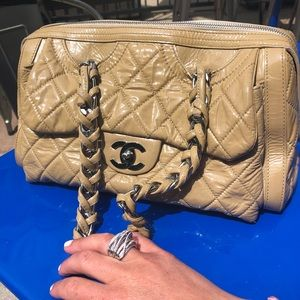 Chanel patent tan